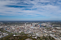 Aerial photo of the Nashville Skyline from the South.
