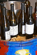 Cuvee Quadratur, Schistes, Quintessence. Domaine Coume del Mas. Banyuls-sur-Mer. Roussillon. Tasting wine. France. Europe. Bottle.