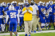 North Myrtle Beach Chiefs head coach Matt Reel celebrates a touchdown against the AC Flora Falcons during the first half the state championship game at Benedict College.