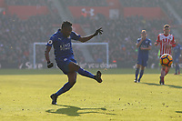 Football - 2016 / 2017 Premier League - Southampton vs. Leicester City<br /> <br /> Ahmed Musa of Leicester City in action at St Mary's Stadium Southampton England<br /> <br /> COLORSPORT/SHAUN BOGGUST