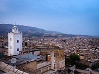 FEZ, MOROCCO - CIRCA APRIL 2017:  View of the Medina in Fez.