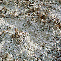 Mineral salts at Devil's Golf Course, near Badwater, in California's Death Valley National Park.