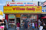Williams Candy stands on Surf Avenue, next to Nathan's, and is known for its candied apples.