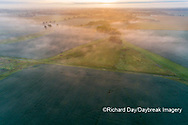 63893-03703 Sunrise and fog aerial view Marion Co. IL