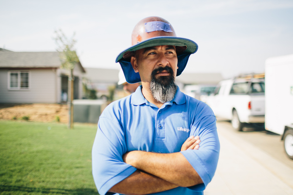 Jesus Magallanes, 39, from Visalia, California,  started training in solar installations by going to Proteus, Inc. more than three years ago. He volunteered more than 100 hours working with Grid Alternatives and now is a crew leader working for Lifestyle Solar.
