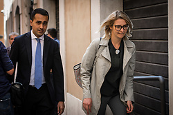 April 26, 2018 - Rome, Italy, Italy - the leader of the 5 star movement Luigi Di Maio returns to the parliamentary groups after having had lunch in a restaurant with his collaborators and his staff. on April 26, 2018 in Rome, Italy  (Credit Image: © Andrea Ronchini/NurPhoto via ZUMA Press)