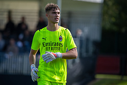 LIVERPOOL, ENGLAND - Wednesday, September 15, 2021: AC Milan's goalkeeper Sebastiano Desplanches during the UEFA Youth League Group B Matchday 1 game between Liverpool FC Under19's and AC Milan Under 19's at the Liverpool Academy. Liverpool won 1-0. (Pic by David Rawcliffe/Propaganda)