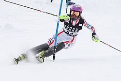 21.12.2010, Stade Emile Allais, Courchevel, FRA, FIS World Cup Ski Alpin, Ladies, Slalom, im Bild Marion Bertrand (FRA) attacks a control gate whilst competing in the FIS Alpine skiing World Cup ladies slalom race in Courchevel 1850, France. EXPA Pictures © 2010, PhotoCredit: EXPA/ M. Gunn