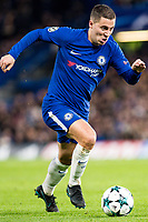 LONDON,ENGLAND - DECEMBER 05: Chelsea (10) Eden Hazard during the UEFA Champions League group C match between Chelsea FC and Atletico Madrid at Stamford Bridge on December 5, 2017 in London, United Kingdom.  <br /> ( Photo by Sebastian Frej / MB Media )