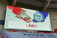Score board before the EFL Sky Bet League 1 match between Doncaster Rovers and Portsmouth at the Keepmoat Stadium, Doncaster, England on 25 August 2018.Photo by Ian Lyall.