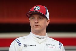 Drivers Kimi Raikkonen during the new livery presentation of Alfa Romeo's F1 car at the Circuit de Barcelona-Catalunya.