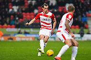 John Marquis of Doncaster Rovers (9) in action during the EFL Sky Bet League 1 match between Doncaster Rovers and Scunthorpe United at the Keepmoat Stadium, Doncaster, England on 15 December 2018.