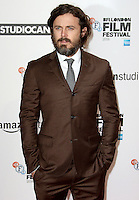 Casey Affleck, Manchester By The Sea - The BFI London Film Festival, Odeon Leicester Square, London UK, 08 October 2016, Photo by Brett D. Cove