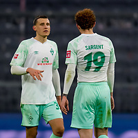 21.11.2020, Allianz Arena, Muenchen, GER,  FC Bayern Muenchen SV Werder Bremen <br /> <br /> <br />  im Bild mit Josh Sargent (SV Werder Bremen #19) <br /> <br /> <br /> <br /> Foto © nordphoto / Straubmeier / Pool/ <br /> <br /> DFL regulations prohibit any use of photographs as image sequences and / or quasi-video.
