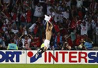 Photo: Chris Ratcliffe.<br /> Middlesbrough v Sevilla. UEFA Cup Final. 10/05/2006.<br /> Sevilla's Enzo Maresca celebrates scoring.