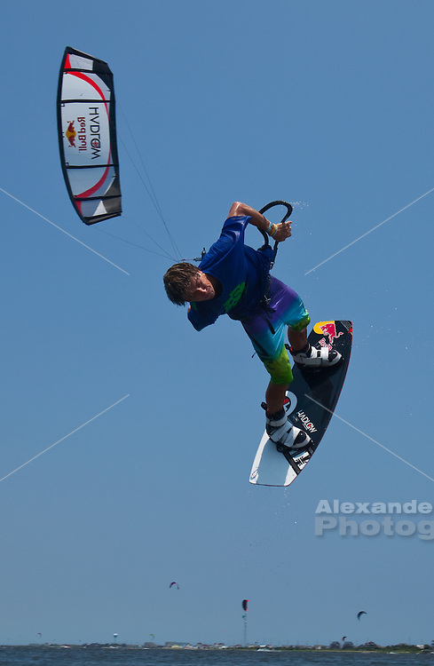 Outerbanks, NC - Aaron Hadlow kiteboarding at the Triple-S 2011