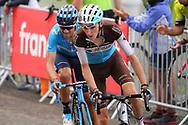 Romain Bardet (FRA - AG2R - La Mondiale), Alejandro Valverde (ESP - Movistar) during the 105th Tour de France 2018, Stage 17, Bagneres de Luchon - Col du Portet (65 km) on July 25th, 2018 - Photo Kei Tsuji / BettiniPhoto / ProSportsImages / DPPI