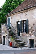 Old house. Sancerre village, Loire, France