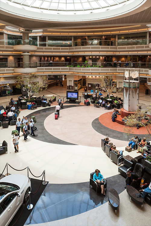 Main terminal atrium at Hartsfield-Jackson Atlanta International Airport.