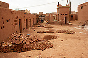 Traditional Moroccan pottery in a rural village