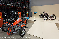 Prototype Harley-Davidson 3-wheelers seen in the archives while on a tour of the Harley-Davidson Museum during the Milwaukee Rally. Milwaukee, WI, USA. Saturday, September 3, 2016. Photography ©2016 Michael Lichter.