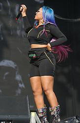 Stefflon Don performs on stage on day 2 of All Points East festival in Victoria Park in London, UK. Picture date: Saturday 26 May 2018. Photo credit: Katja Ogrin/ EMPICS Entertainment.