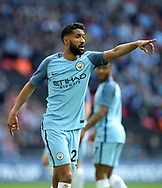 Manchester City's Gael Clichy in action during the FA Cup Semi Final match at Wembley Stadium, London. Picture date: April 23rd, 2017. Pic credit should read: David Klein/Sportimage