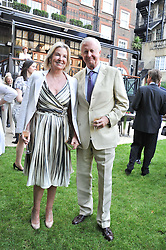GALEN & HILARY WESTON at a reception hosted by the Friends of the Castle of Mey held at the Goring Hotel, Beeston Place, London on 22nd May 2012.