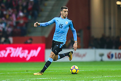 November 10, 2017 - Warsaw, Poland - Matias Vecino (URU) in action during the international friendly match between Poland and Uruguay at National Stadium on November 10, 2017 in Warsaw, Poland. (Credit Image: © Foto Olimpik/NurPhoto via ZUMA Press)