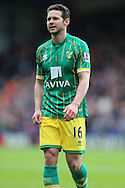 Matthew Jarvis of Norwich City looks on. Barclays Premier League match, Crystal Palace v Norwich city at Selhurst Park in London on Saturday 9th April 2016. pic by John Patrick Fletcher, Andrew Orchard sports photography.