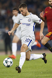 October 31, 2017 - Rome, Italy - Rome, Italy - 31/10/2017..Eden Hazard of Chelsea during the UEFA Champions League Group C soccer match against Roma at the Olympic stadium in Rome..UEFA Champions League Group C soccer match between AS Roma and Chelsea FC at the Olympic stadium in Rome. AS Roma defeating Chelsea FC 3-0. (Credit Image: © Giampiero Sposito/Pacific Press via ZUMA Wire)