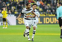 Fotball<br /> Tyskland<br /> Foto: Witters/Digitalsport<br /> NORWAY ONLY<br /> <br /> 0:1 Jubel v.l. Torschuetze Raffael, Mahmoud Dahoud (Gladbach)<br /> Dortmund, 03.12.2016, Fussball Bundesliga, Borussia Dortmund - Borussia Mönchengladbach
