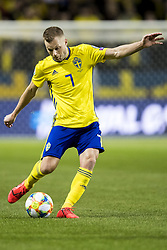 March 23, 2019 - Stockholm, SWEDEN - 190323  Sebastian Larsson of Sweden during the UEFA Euro Qualifier football match between Sweden and Romania on March 23, 2019 in Stockholm. (Credit Image: © Mathilda Ahlberg/Bildbyran via ZUMA Press)