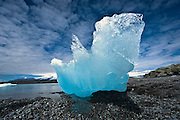 Ice in the neighbourhood of Jökulsárlón lagoon. Taken in South-east Iceland
