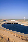 Dos Amigos Pumping Plant, California Aqueduct is a 444 mile aqueduct that carries water from Northern California to Southern California, Merced County, California, USA