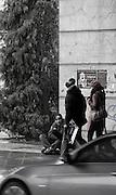 Berlin, GERMANY, Begger, working his pitch outside Berlin Spandau Banhof, Friday 19.12.2008. {Mandatory Credit/Peter Spurrier] Street Photos