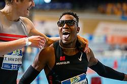 Liemarvin Bonevacia, Tony van Diepen in action on the 400 meter during AA Drink Dutch Athletics Championship Indoor on 21 February 2021 in Apeldoorn.