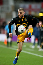 Newport County's Dan Butler during the FA Cup fourth round match at Riverside Stadium, Middlesbrough.