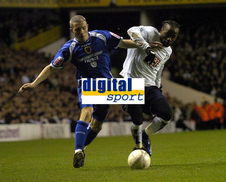 Photo: Olly Greenwood.<br />Tottenham Hotspur v Cardiff City. The FA Cup. 17/01/2007. Tottenham's Pascal Chimbonda and Cardiff's Kevin McNaughton