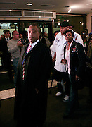 Rev. Al Sharpton, Nicole Paultre Bell, and Joseph Guzman at The Rev. Al Sharpton and The National Action Network announcement of plans and strategies for political boycotts, demonstrations and civil disobedience in response to Sean Bell Not Guilty Verdict held at 1199 SEIU on April 29, 2008