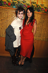 Left to right, JAIME WINSTONE and LILY ALLEN at a party hosted by Mulberry to celebrate the publication of The Meaning of Sunglasses by Hadley Freeman held at Mulberry 41-42 New Bond Street, London on 14th February 2008.<br /><br />NON EXCLUSIVE - WORLD RIGHTS