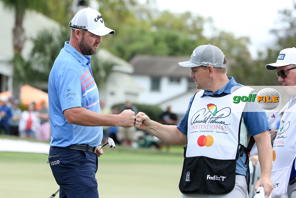 Marc Leishman (AUS) and caddy Matthew Kelly during the final round of the Arnold Palmer Invitational presented by Mastercard, Bay Hill, Orlando, Florida, USA. 08/03/2020.<br /> Picture: Golffile   Scott Halleran<br /> <br /> <br /> All photo usage must carry mandatory copyright credit (© Golffile   Scott Halleran)