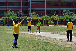 June 30, 2019 - Srinagar, J&K, India - Kashmiri visually impaired cricket players celebrate the dismissal of a batsman during the match in Srinagar..The first ever blind cricket tournament was organized by J&K Handicapped Association and Disable People's Trust for the visually-impaired players here in Srinagar. The motive behind this tournament is to encourage players to take part in sports events and boost their morals so that they can also make a career in sports. (Credit Image: © Saqib Majeed/SOPA Images via ZUMA Wire)