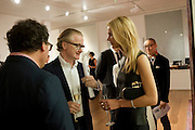IWAN WIRTH; DAVID ROBERTS; IMDRE SERPYTYTE; , Reception of the Silent Auction for the South London Gallery.  Hauser and Wirth. Savile Row. London. 13 October 2011. <br /> <br />  , -DO NOT ARCHIVE-© Copyright Photograph by Dafydd Jones. 248 Clapham Rd. London SW9 0PZ. Tel 0207 820 0771. www.dafjones.com.