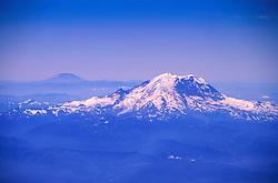 Mt. Rainier and Mt. St. Helens (Aerial), Cascade Mountains, Washington, US