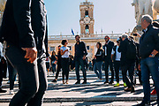 Lega party leader Matteo Salvini takes part in the protest against Rome mayor Virginia Raggi at Campidoglio organized by Lega political party on October 4, 2019 in Rome, Italy. OneShot. Christian Mantuano / OneShot
