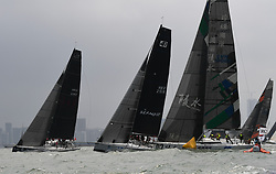 HAIKOU, March 16, 2019  Yachts compete during the Haikou Offshore Race at the 2019 Round Hainan Regatta in Haikou, capital of south China's Hainan Province, March 16, 2019. (Credit Image: © Xinhua via ZUMA Wire)