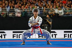 November 10, 2018 - Madrid, Madrid, Spain - Sandra Sanchez of Spain figth for the gold medal and win the tournament of Female Kata tournament during the Finals of Karate World Championship celebrates in Wizink Center, Madrid, Spain, on November 10th, 2018. (Credit Image: © AFP7 via ZUMA Wire)