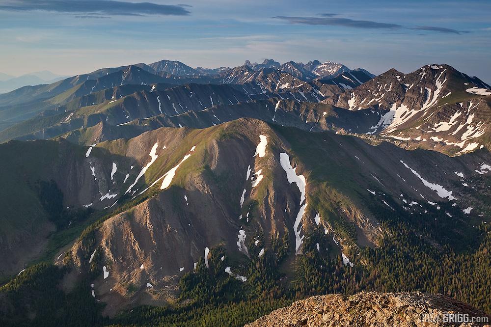 Spread Eagle Peak provides a great advantage point to peer into the eastside of the  Sange De Cristo Range.