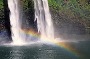 Waterfall with rainbow<br />